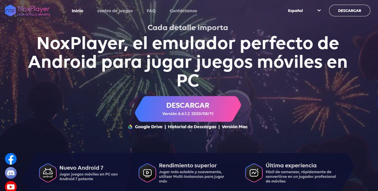 NoxPlayer, jugar juegos moviles en pc