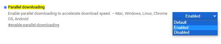 Parallel downloading flag para chrome