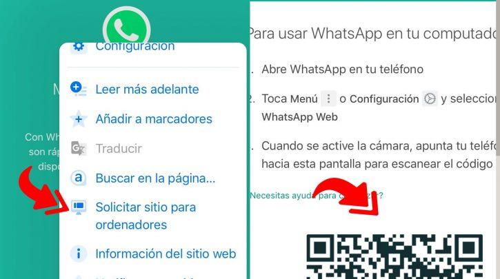 Cómo abrir whatsapp web en un celular