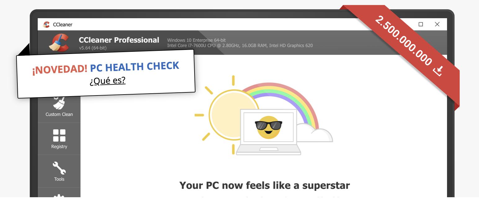 Ccleaner, programa para limpiar y acelerar tu PC, Descargar CCleaner, Limpie y optimice su PC gratis