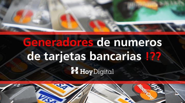 Generadores de tarjetas bancarias