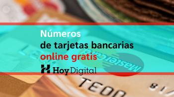 Número de tarjetas bancarias online gratis, Número tarjeta de crédito con dinero