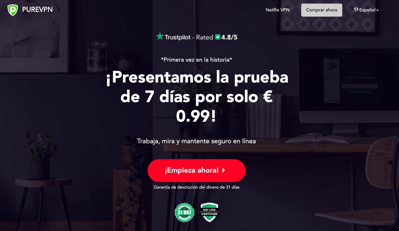 PureVPN para Espana